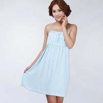 忆竹缘100%竹纤维睡衣可爱韩版吊带浴裙 夏季时尚休闲家居服 价格:54.40
