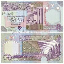 【非洲】利比亚1/2 Dinar纸钞 纸币 外国纸币 外币 价格:12.00