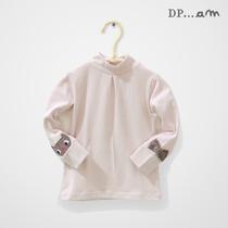 出口法国 婴幼儿小高领打底衫 宝宝长袖T恤 猫咪 女童弹力T恤 价格:16.00