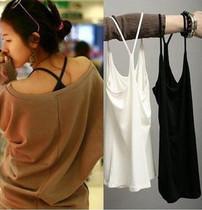 超时尚超流行修身百搭Y字加长款吊带背心 打底背心(细螺纹棉)92g 价格:7.90