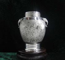 中国斑锡/手工锡罐罐器/收藏作品/个旧锡器/大马锡-斑锡吉象茶筒 价格:1920.00