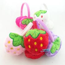 可爱水果动物头戴护耳式耳罩耳包 可伸缩防寒保暖女士草莓耳套 价格:4.23
