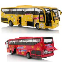 合金车模 巴士玩具车模型 警车大巴/校巴车 客车 声光 包邮送备件 价格:46.00