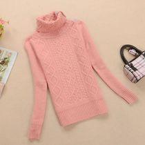 2013秋冬女装 韩版学院风高领羊毛衫女式新款 修身纯色套头毛衣 价格:134.00