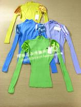 fornarina2013夏季新款女装 泡泡袖高领修身拼接针织衫 价格:35.00