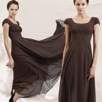 首尚格释原创新款女装方领短袖收腰修身长款雪纺连衣裙LYQ-828 价格:178.00
