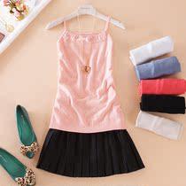 春夏装新品韩版女装镂空提花小蝴蝶结针织打底小吊带衫小背心 价格:32.00