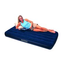 包邮正品INTEX68757单人加宽充气床垫 植绒睡垫床 买一送五 价格:110.00