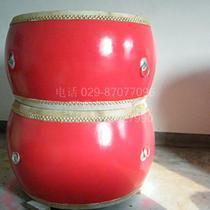 陕西威风锣鼓乐器 一米大红鼓 1米大鼓 优质纯牛皮鼓 高70厘米 价格:1200.00