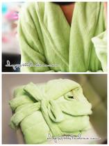 ♥原单!超美的清新果绿色~长款珊瑚绒保暖家居睡袍浴袍~ 价格:49.90