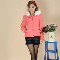 2013秋冬装新款 女士韩版修身棉衣棉服 女式纯色冬装流行外套 价格:76.00