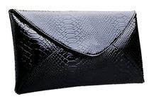 手拿包女 2013新款手包女包信封包 漆皮包晚装晚宴包公文包 包邮 价格:31.00