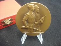 """捷克斯洛伐克社会主义时期""""解放15周年""""大铜章 带原盒 价格:500.00"""