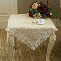 【泰绣】特价款蕾丝田园台布刺绣花边桌布桌旗茶几布沙发布T80601 价格:23.50
