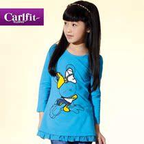 卡尔菲特 2012童装新款 时尚爱马仕兔子风 女童连衣裙短 价格:97.30