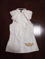 BCBG 原单正品 无袖 荷叶边 衬衣 价格:238.00