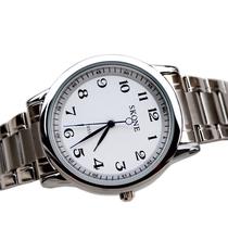 包邮清晰数字老人手表防水老人表中老年人学生石英表正品男表女表 价格:56.00