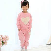 品牌童装 女童2013秋装 儿童新款韩版 纯棉女孩运动套装衣服 价格:128.00