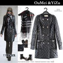 欧美2013秋冬款 修身圆领女长款PU皮衣 新款棉衣 加厚外套特促销 价格:288.00