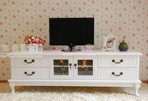 欧式田园白色实木电视柜 液晶电视柜 卧室电视柜 手工制作 特价 价格:488.00