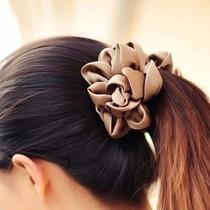 出口韩国饰品 立体花朵 绸缎 香蕉夹竖夹 模样公主秀 发饰 头饰 价格:7.00