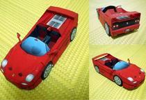 手工DIY 立体组装 益智玩具 仿真车模 法拉利 F50 跑车 3D纸模型 价格:5.00