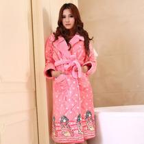 秋冬季新款女士睡衣加厚珊瑚绒夹棉浴袍高贵时尚修身女款睡袍 价格:139.00
