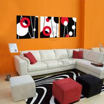 灵动空间 无框画三联画环保装饰画客厅卧室沙发背景墙 价格:28.00