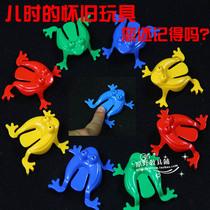 儿童怀旧玩具弹跳青蛙 塑料青蛙跳 幼儿跳跳蛙 无毒无味青蛙跳 价格:1.00