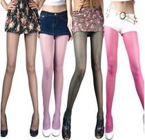 6双包邮促销浪莎连裤袜包芯丝袜子加裆彩色咖啡紫绿10色超 价格:7.80