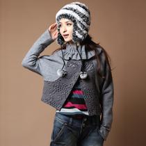 短外套2012秋冬新品女装蝙蝠袖韩版毛呢大衣风衣外套 价格:98.00