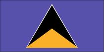 7号 圣卢西亚  各种规格旗帜可定做 串旗万国旗党旗有售 价格:3.00