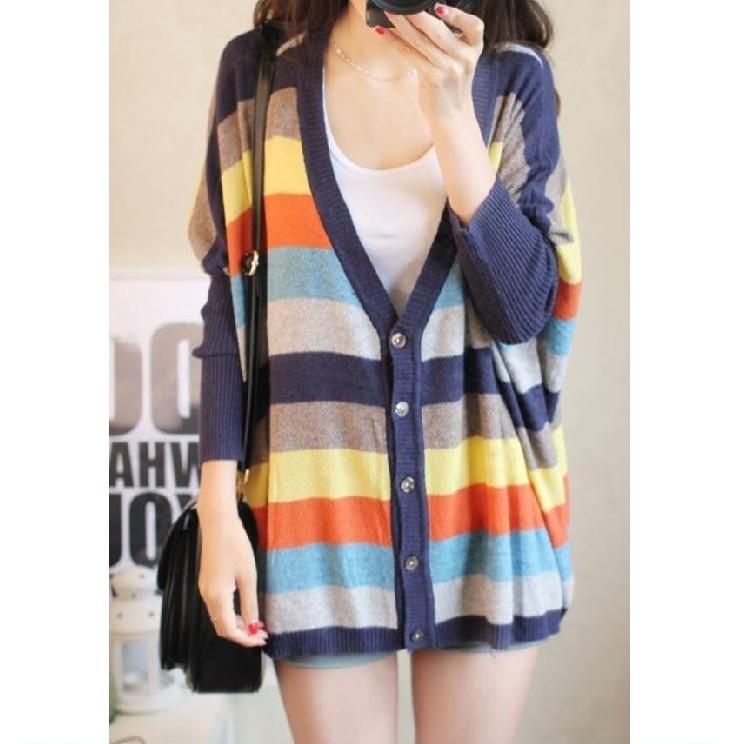 包邮 秋装新款女装 韩版蝙蝠袖大码针织衫女 薄开衫外套 优帛良衣 价格:68.00