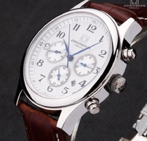 瑞士正品 男士手表 嘉年华六针全自动机械表 精钢商务腕表 价格:280.00