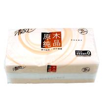 清风原木餐巾纸 纯品双层面巾纸 纸巾 抽取式纸巾 200抽1包装 价格:6.00
