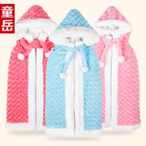 婴儿披风斗篷加厚秋冬款 宝宝抱毯披肩斗篷秋冬款 儿童披肩披风 价格:98.00