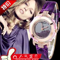热卖玛丽莎melissa流沙表正品手表水晶女表韩版时尚时装表水钻表 价格:247.00