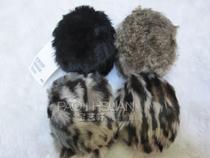 外贸原单 保暖耳捂 女 冬季新款H&M HM  豹纹毛毛耳罩 耳套 价格:15.00