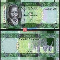 【非洲】全新UNC 南苏丹1镑 2011年版 外国纸币 钱币 最年轻国家 价格:10.00