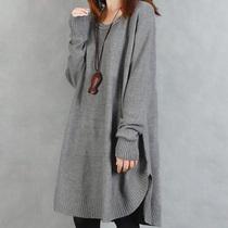 2013秋装新品 布衣风格韩版女装宽松休闲针织超大码长袖毛衣外套 价格:166.50