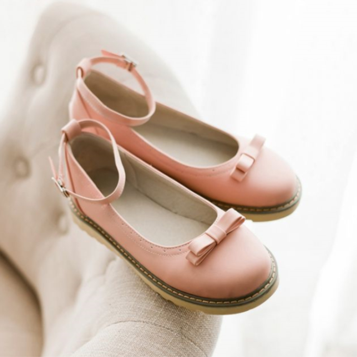 圆头娃娃鞋平