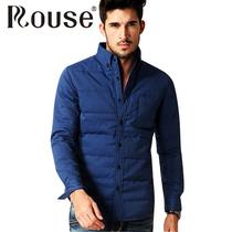 正品2013洛兹 男式羽绒衬衫 男士长袖衬衣修身型轻便保暖服饰包邮 价格:199.00