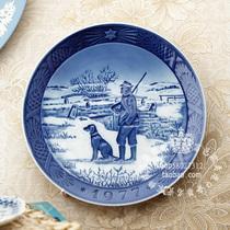丹麦皇家哥本哈根1977年 手工彩绘 年度收藏瓷盘~伊莫维桥 价格:395.00