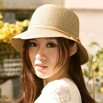 包邮 夏天凉帽草编帽子 沙滩圆顶遮阳草帽女帽 女士蝴蝶结太阳帽 价格:35.00