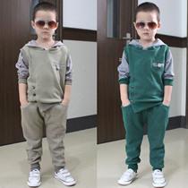 童装男童韩版休闲套装两件套 秋装2013新款儿童运动长裤卫衣套装 价格:95.00