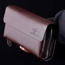 澳大利亚袋鼠专柜正品2013新款牛皮人气休闲商务手包品牌真皮男包 价格:208.00