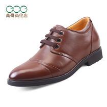 高哥橡胶男式商务正装软面皮内增高皮鞋低帮鞋流行男鞋 增高鞋 价格:394.20