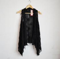春秋季新款时尚背心女式中长款马夹 外套流苏马甲 韩版个性女装潮 价格:59.00