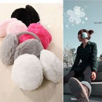 韩版可爱仿兔毛耳套 女款 2013新款纯色花朵耳罩耳包护耳捂 女 价格:2.95