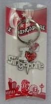 【新加坡旅游纪念品】狮城 铁制钥匙扣 黑/白 I lv singapore 价格:25.00